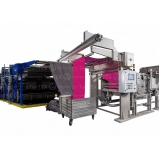 automação de máquina de tear industrial