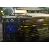 automação de máquina industrial para tecelagem