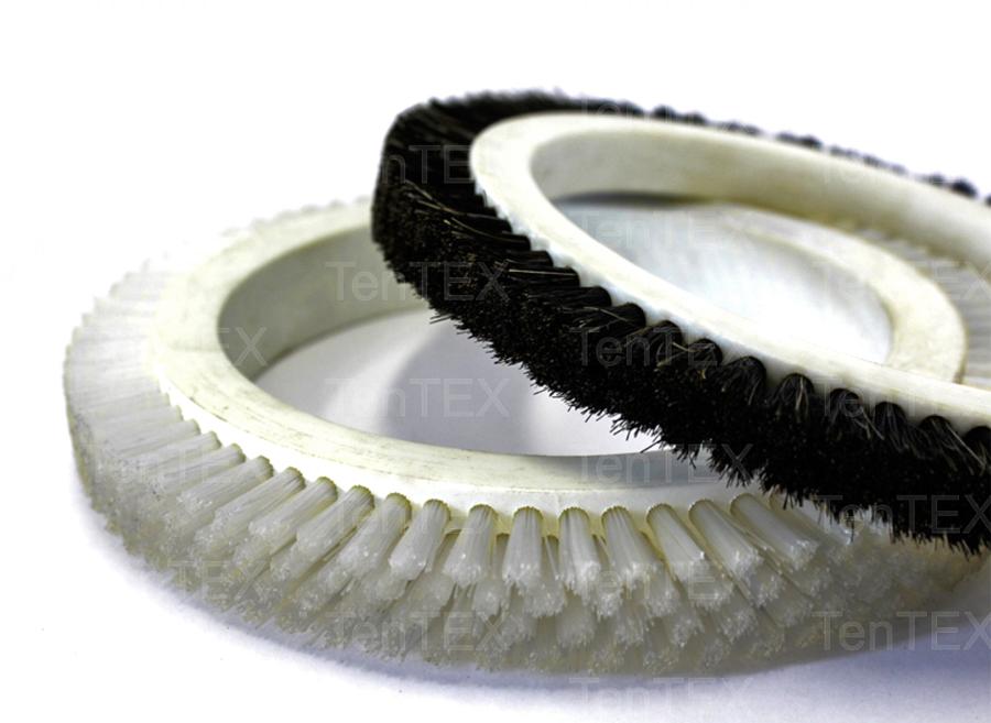 Escovas introdutoras de tecido na Rama-