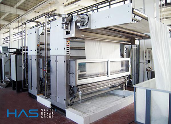 Máquinas para acabamento têxtil